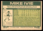 1977 O-Pee-Chee #241  Mike Ivie  Back Thumbnail