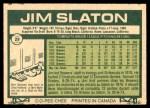 1977 O-Pee-Chee #29  Jim Slaton  Back Thumbnail