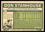 1977 O-Pee-Chee #63  Don Stanhouse  Back Thumbnail