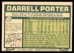 1977 O-Pee-Chee #116  Darrell Porter  Back Thumbnail
