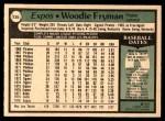 1979 O-Pee-Chee #135  Woodie Fryman  Back Thumbnail
