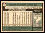 1979 O-Pee-Chee #215  Darrell Evans  Back Thumbnail