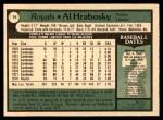 1979 O-Pee-Chee #19  Al Hrabosky  Back Thumbnail