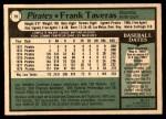 1979 O-Pee-Chee #79  Frank Taveras  Back Thumbnail