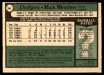 1979 O-Pee-Chee #66  Rick Rhoden  Back Thumbnail