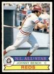 1979 O-Pee-Chee #101  Johnny Bench  Front Thumbnail