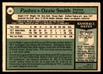 1979 O-Pee-Chee #52  Ozzie Smith  Back Thumbnail