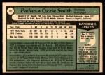 1979 O-Pee-Chee #52  Ozzie Smith  Back Thumbnail