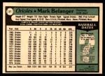 1979 O-Pee-Chee #27  Mark Belanger  Back Thumbnail