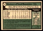 1979 O-Pee-Chee #154 TR Floyd Bannister   Back Thumbnail
