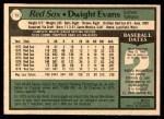 1979 O-Pee-Chee #73  Dwight Evans  Back Thumbnail