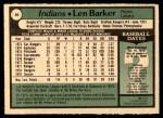 1979 O-Pee-Chee #40 TR Len Barker   Back Thumbnail
