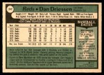 1979 O-Pee-Chee #247  Dan Driessen  Back Thumbnail