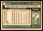 1979 O-Pee-Chee #134  Joe Rudi  Back Thumbnail