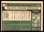 1979 O-Pee-Chee #152  Lary Sorensen  Back Thumbnail