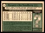 1979 O-Pee-Chee #53  Jim Sundberg  Back Thumbnail