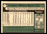 1979 O-Pee-Chee #24  Mickey Rivers  Back Thumbnail