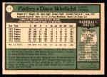 1979 O-Pee-Chee #11  Dave Winfield  Back Thumbnail