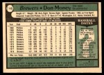 1979 O-Pee-Chee #133  Don Money  Back Thumbnail