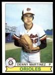 1979 O-Pee-Chee #105  Dennis Martinez  Front Thumbnail