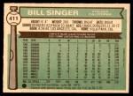 1976 O-Pee-Chee #411  Bill Singer  Back Thumbnail