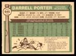 1976 O-Pee-Chee #645  Darrell Porter  Back Thumbnail