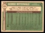 1976 O-Pee-Chee #506  George Mitterwald  Back Thumbnail