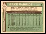 1976 O-Pee-Chee #135  Bake McBride  Back Thumbnail