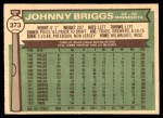 1976 O-Pee-Chee #373  Johnny Briggs  Back Thumbnail