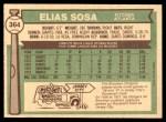 1976 O-Pee-Chee #364  Elias Sosa  Back Thumbnail