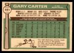 1976 O-Pee-Chee #441  Gary Carter  Back Thumbnail