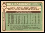 1976 O-Pee-Chee #137  Bill Robinson  Back Thumbnail