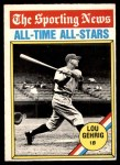 1976 O-Pee-Chee #341   -  Lou Gehrig All-Time All-Stars Front Thumbnail