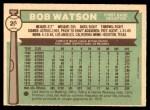 1976 O-Pee-Chee #20  Bob Watson  Back Thumbnail