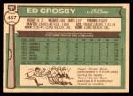 1976 O-Pee-Chee #457  Ed Crosby  Back Thumbnail