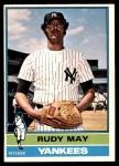 1976 O-Pee-Chee #481  Rudy May  Front Thumbnail