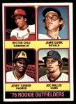 1976 O-Pee-Chee #598   -  Hector Cruz / Jamie Quirk / Jerry Turner / Joe Wallis Rookie Outfielders   Front Thumbnail