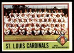 1976 O-Pee-Chee #581   -  Red Schoendienst Cardinals Team Checklist Front Thumbnail