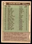 1976 O-Pee-Chee #477   -  Frank Robinson Indians Team Checklist Back Thumbnail