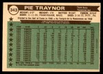 1976 O-Pee-Chee #343   -  Pie Traynor All-Time All-Stars Back Thumbnail