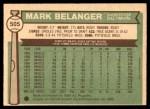 1976 O-Pee-Chee #505  Mark Belanger  Back Thumbnail