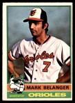 1976 O-Pee-Chee #505  Mark Belanger  Front Thumbnail