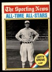 1976 O-Pee-Chee #350   -  Lefty Grove All-Time All-Stars Front Thumbnail
