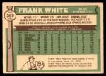 1976 O-Pee-Chee #369  Frank White  Back Thumbnail