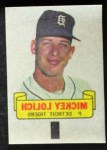 1966 Topps Rub Offs   Mickey Lolich   Front Thumbnail