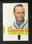 1966 Topps Rub Offs  Eddie Mathews  Front Thumbnail