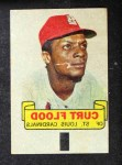 1966 Topps Rub Offs   Curt Flood   Front Thumbnail