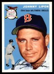 1994 Topps 1954 Archives #19  Johnny Lipon  Front Thumbnail