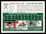 1994 Topps 1954 Archives #37  Whitey Ford  Back Thumbnail