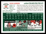 1994 Topps 1954 Archives #45  Richie Ashburn  Back Thumbnail